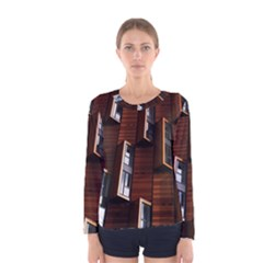 Abstract Architecture Building Business Women s Long Sleeve Tee