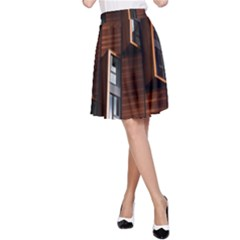 Abstract Architecture Building Business A Line Skirt