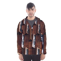 Abstract Architecture Building Business Hooded Wind Breaker (men)