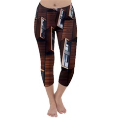 Abstract Architecture Building Business Capri Winter Leggings