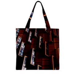 Abstract Architecture Building Business Zipper Grocery Tote Bag
