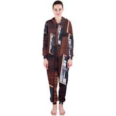 Abstract Architecture Building Business Hooded Jumpsuit (ladies)