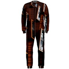 Abstract Architecture Building Business Onepiece Jumpsuit (men)