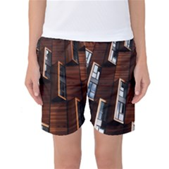 Abstract Architecture Building Business Women s Basketball Shorts