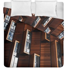 Abstract Architecture Building Business Duvet Cover Double Side (king Size)
