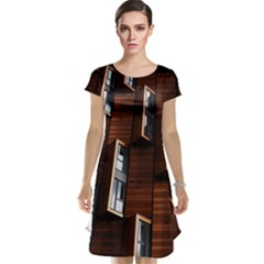 Abstract Architecture Building Business Cap Sleeve Nightdress