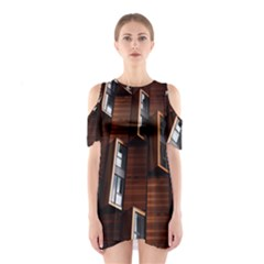 Abstract Architecture Building Business Shoulder Cutout One Piece