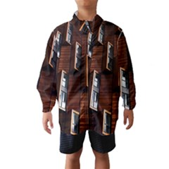 Abstract Architecture Building Business Wind Breaker (kids)