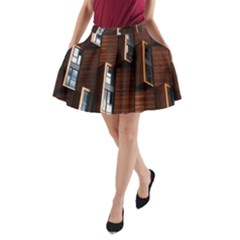 Abstract Architecture Building Business A Line Pocket Skirt