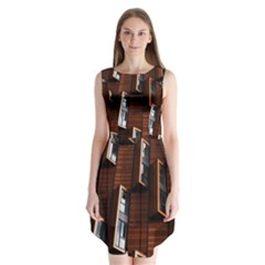 Abstract Architecture Building Business Sleeveless Chiffon Dress