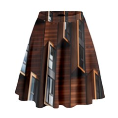 Abstract Architecture Building Business High Waist Skirt