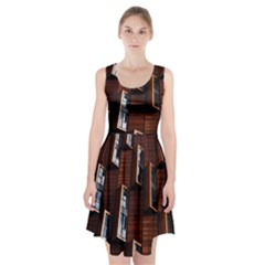 Abstract Architecture Building Business Racerback Midi Dress