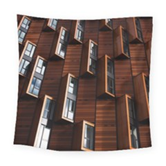 Abstract Architecture Building Business Square Tapestry (large)