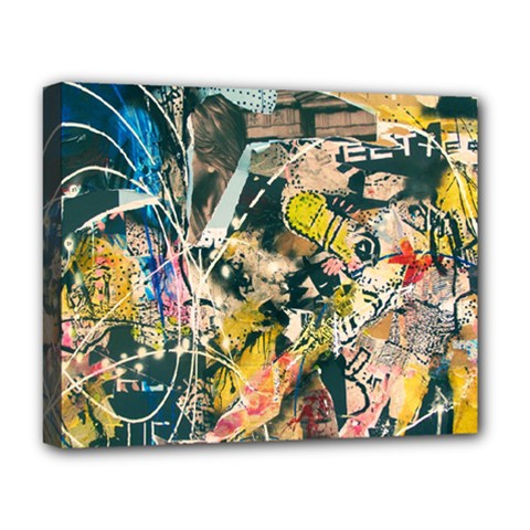Art Graffiti Abstract Vintage Lines Deluxe Canvas 20  X 16