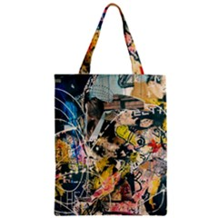 Art Graffiti Abstract Vintage Lines Classic Tote Bag