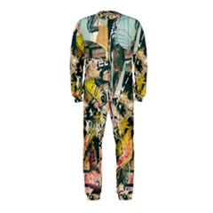 Art Graffiti Abstract Vintage Lines Onepiece Jumpsuit (kids)