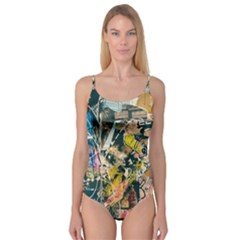 Art Graffiti Abstract Vintage Lines Camisole Leotard