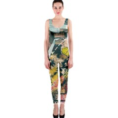 Art Graffiti Abstract Vintage Lines Onepiece Catsuit