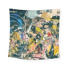 Art Graffiti Abstract Vintage Lines Square Tapestry (small)