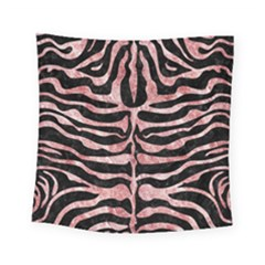 Skin2 Black Marble & Red & White Marble Square Tapestry (small)