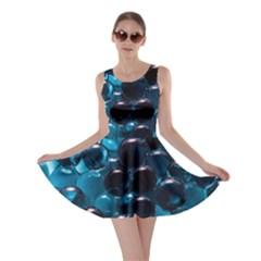 Blue Abstract Balls Spheres Skater Dress