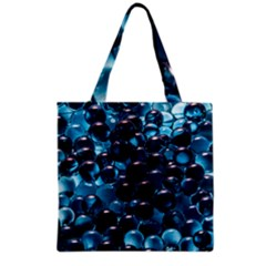Blue Abstract Balls Spheres Grocery Tote Bag