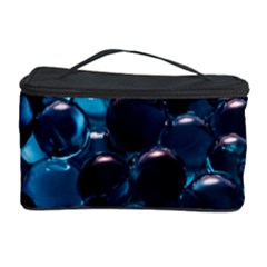 Blue Abstract Balls Spheres Cosmetic Storage Case