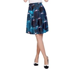 Blue Abstract Balls Spheres A Line Skirt