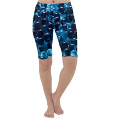 Blue Abstract Balls Spheres Cropped Leggings