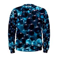 Blue Abstract Balls Spheres Men s Sweatshirt