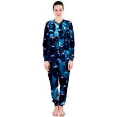 Blue Abstract Balls Spheres OnePiece Jumpsuit (Ladies)