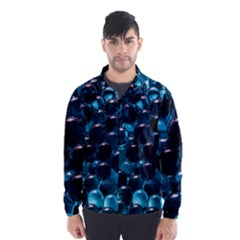 Blue Abstract Balls Spheres Wind Breaker (men)