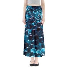 Blue Abstract Balls Spheres Maxi Skirts