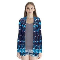 Blue Abstract Balls Spheres Cardigans