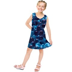 Blue Abstract Balls Spheres Kids  Tunic Dress