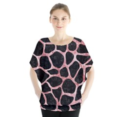Skin1 Black Marble & Red & White Marble (r) Batwing Chiffon Blouse