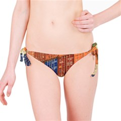 Blue White Orange And Brown Container Van Bikini Bottom