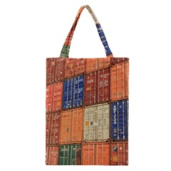 Blue White Orange And Brown Container Van Classic Tote Bag