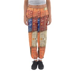 Blue White Orange And Brown Container Van Women s Jogger Sweatpants