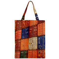 Blue White Orange And Brown Container Van Zipper Classic Tote Bag