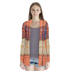 Blue White Orange And Brown Container Van Cardigans