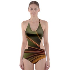 Book Screen Climate Mood Range Cut Out One Piece Swimsuit