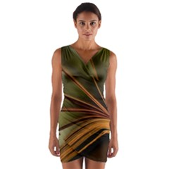 Book Screen Climate Mood Range Wrap Front Bodycon Dress
