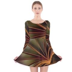 Book Screen Climate Mood Range Long Sleeve Velvet Skater Dress