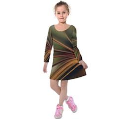 Book Screen Climate Mood Range Kids  Long Sleeve Velvet Dress