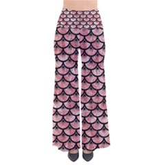 Scales3 Black Marble & Red & White Marble (r) So Vintage Palazzo Pants