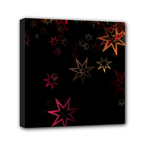 Christmas Background Motif Star Mini Canvas 6  X 6