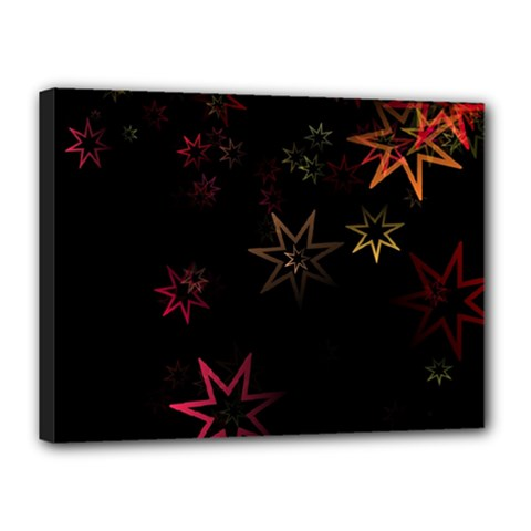 Christmas Background Motif Star Canvas 16  x 12