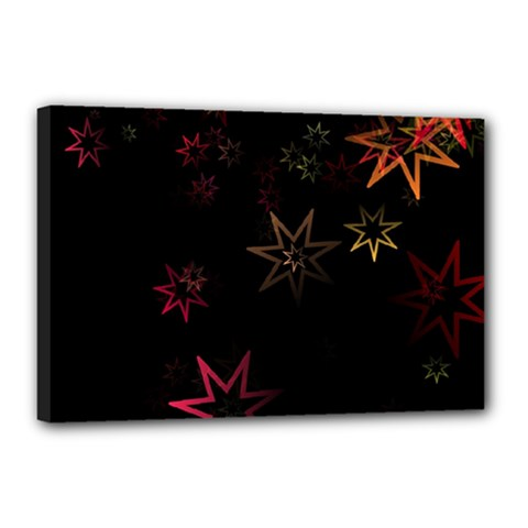 Christmas Background Motif Star Canvas 18  X 12