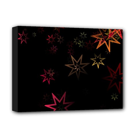 Christmas Background Motif Star Deluxe Canvas 16  X 12